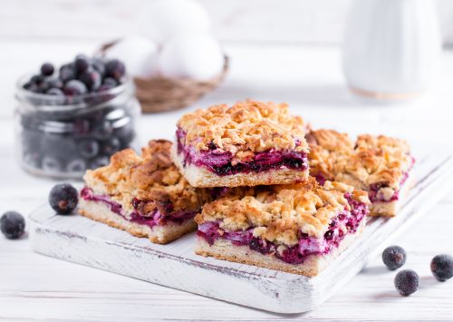 Blueberry Lavender Crumble Squares