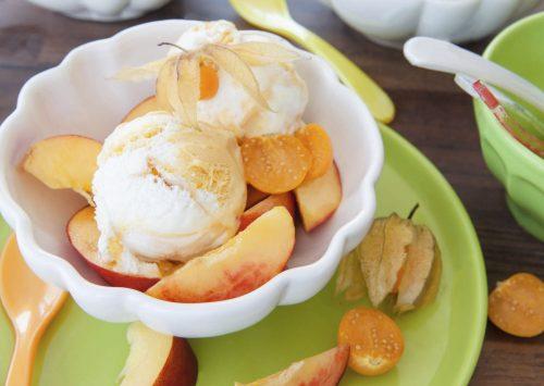 Coated Nectarine Glaze Dessert