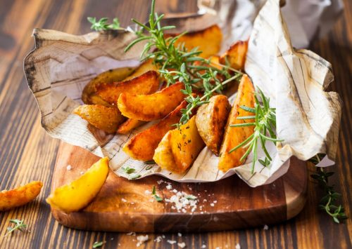 Crisped Potato Wedges
