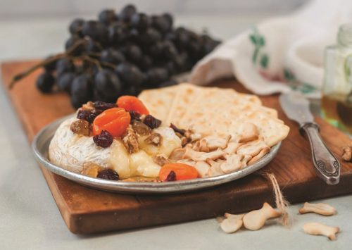 Melted Brie, White Wine Soaked Apricot & Nuts